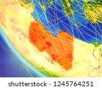 libya on planet earth from... | Shutterstock . vector #1245764251