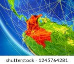 colombia on planet earth from... | Shutterstock . vector #1245764281