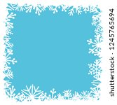 square frame with snowflakes on ... | Shutterstock .eps vector #1245765694