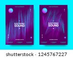 wave music poster with...   Shutterstock .eps vector #1245767227