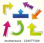 set of arrow   Shutterstock .eps vector #124577104