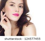 portrait of attractive ... | Shutterstock . vector #124577455