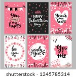 collection of valentine's day... | Shutterstock .eps vector #1245785314