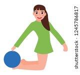bending leg flat icon design   Shutterstock .eps vector #1245786817