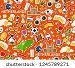vector flat seamless texture... | Shutterstock .eps vector #1245789271