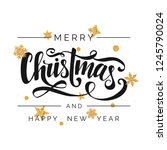 merry christmas and happy new... | Shutterstock .eps vector #1245790024