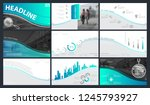 template presentation. green ... | Shutterstock .eps vector #1245793927