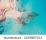 aerial shots of the coast of... | Shutterstock . vector #1245807211