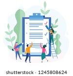 business team fill out ... | Shutterstock .eps vector #1245808624