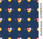 seamless pattern with buttons.... | Shutterstock .eps vector #1245809374