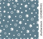 seamless pattern with stars.... | Shutterstock .eps vector #1245809431