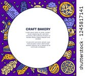 circle bakery text template.... | Shutterstock .eps vector #1245817141