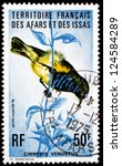 Small photo of AFARS AND ISSAS - CIRCA 1975: a stamp printed in Afars and Issas shows Variable Sunbird, Cinnyris Venustus, Bird, circa 1975