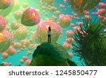 2d illustration. abstract... | Shutterstock . vector #1245850477
