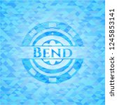 bend realistic sky blue mosaic...   Shutterstock .eps vector #1245853141