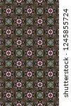 artful geometric pattern and... | Shutterstock . vector #1245855724