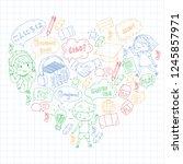 language school for adult  kids.... | Shutterstock .eps vector #1245857971