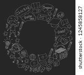 language school for adult  kids....   Shutterstock .eps vector #1245858127