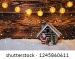 christmas decorations on a... | Shutterstock . vector #1245860611