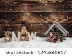 christmas decorations on a... | Shutterstock . vector #1245860617