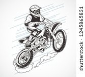 motor cross extream motor | Shutterstock .eps vector #1245865831