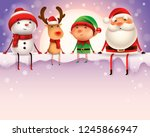 happy christmas companions sit... | Shutterstock . vector #1245866947