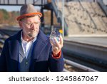 handsome mature businessman... | Shutterstock . vector #1245867067