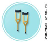crutches vector icon in flat...   Shutterstock .eps vector #1245868441