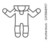 baby romper thin line icon.... | Shutterstock .eps vector #1245868957