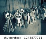 many key used for copying keys... | Shutterstock . vector #1245877711