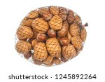 different kind of nuts close up ...   Shutterstock . vector #1245892264
