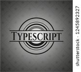 typescript realistic dark emblem | Shutterstock .eps vector #1245892327
