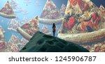 2d illustration. abstract...   Shutterstock . vector #1245906787
