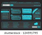 charcoal website design with... | Shutterstock .eps vector #124591795