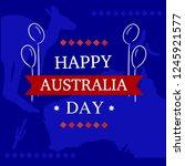 australia day blue background... | Shutterstock .eps vector #1245921577