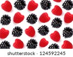 Collage from fresh berry - stock photo