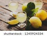 italian typical digestive... | Shutterstock . vector #1245924334