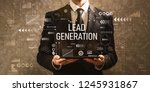 lead generation with... | Shutterstock . vector #1245931867