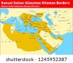 kanuni sultan s leyman ottoman... | Shutterstock .eps vector #1245952387