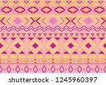 indian pattern tribal ethnic... | Shutterstock .eps vector #1245960397