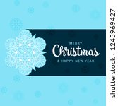 merry christmas and happy new... | Shutterstock .eps vector #1245969427