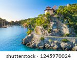 beautiful sea coast with... | Shutterstock . vector #1245970024
