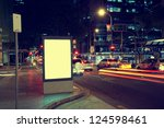 modern city advertising light... | Shutterstock . vector #124598461