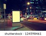 modern city advertising light... | Shutterstock . vector #124598461