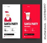 santa claus vector illustration ... | Shutterstock .eps vector #1245984997