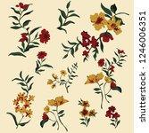 floral pattern vintage.... | Shutterstock .eps vector #1246006351