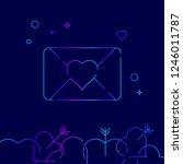 love letter vector line icon....