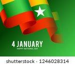 myanmar independence day... | Shutterstock .eps vector #1246028314