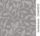 seamless pattern with leafs | Shutterstock .eps vector #124603015
