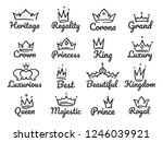 majestic crown logo. sketch... | Shutterstock .eps vector #1246039921